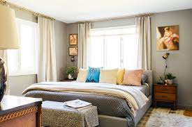 eclectic style bedroom a family s eclectic style transforms a mid century ranch home