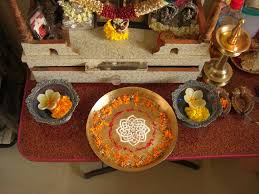 Decoration For Navratri At Home File Decorated Thali In Our Pooja Place Jpg Wikimedia Commons