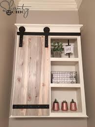 How To Build Barn Doors Sliding Diy Sliding Barn Door Bathroom Cabinet Shanty 2 Chic