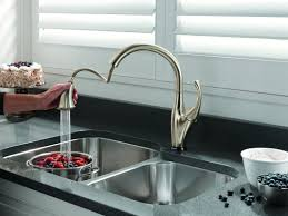 touch sensor kitchen faucet enchanting delta touchless kitchen faucet and motion gallery