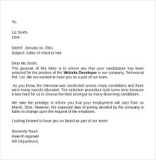 sample letter of intent for a job 7 free documents in pdf word