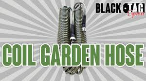 coil garden hose lead safe coiled garden hose youtube