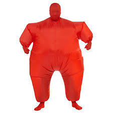 Inflatable Halloween Costumes Adults Inflatable Red Blow Fat Suit Funny Mens Sumo Halloween
