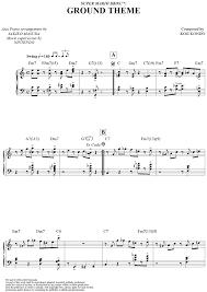 super mario bros ground theme sheet music piano