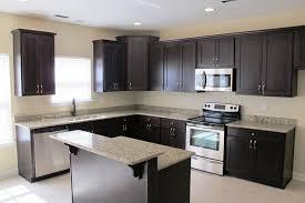 kitchen floor tiles that match cherry wood cabinets dark with