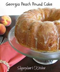georgia peach pound cake loaded with delicious peach flavor