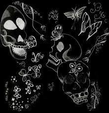 imagenes chidas de calaveras mariposa y calaveras por merynell dibujando