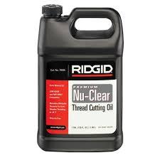 ridgid 1 gal nu clear plus thread cutting oil 70835 the home depot