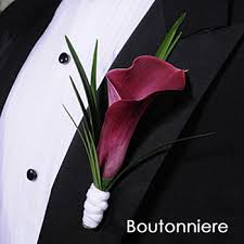 calla boutonniere calla plum boutonniere and corsage pack