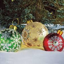 outdoor lighted christmas balls sacharoff decoration