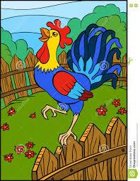cartoon birds for kids beautiful cute rooster stock vector