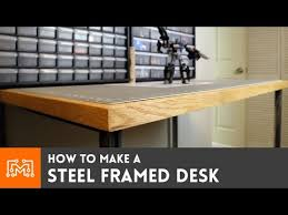 steel framed standing desk electronics station how to youtube