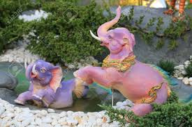 ornament elephant sculpture statues decorated on gardening at