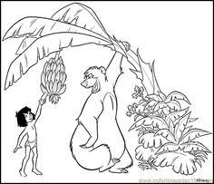 jungle book mowgli road smiling jungle book coloring pages