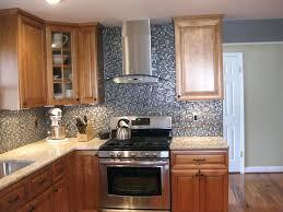 Kitchen With Glass Tile Backsplash Horizontal Glass Tile Backsplash Kitchen Black Gray Mosaic Glass