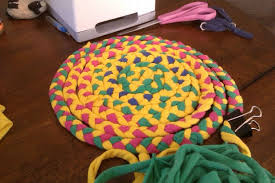 How To Make A Rag Rug From T Shirts Make A Braided T Shirt Rug 5 Steps With Pictures
