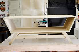 diy mid century modern coffee table build this mid century modern coffee table