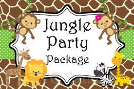 Jungle Theme Invitation Card Jungle Theme Birthday Invitations Free Printable Ajordanscart Com