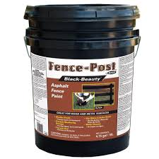 gardner 4 75 gal black beauty asphalt fence paint 9005 ga the