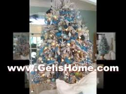 White Christmas Tree Silver Decorations minimalist silver and white christmas tree decorations youtube