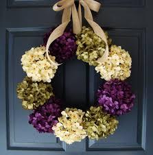 hydrangea wreaths summer wreath entryway decor front