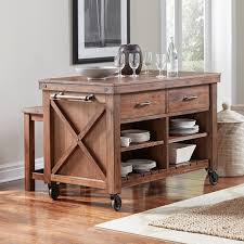 Kitchen Island On Casters Locking Casters For Kitchen Island Home Decorating Interior