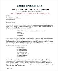 Employment Letter For Uk Business Visa sle of invitation letter for china visit visa tomyumtumweb