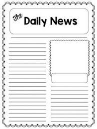 sample blank newspaper the 5w u0027s of a newspaper article student activity handout