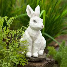 plow hearth woodcut rabbit garden statue reviews wayfair