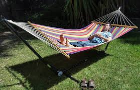 x large free standing hammock bright multi coloured canvas