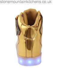 gold light up sneakers annabelz led shoes high top men women light up shoes usb charging