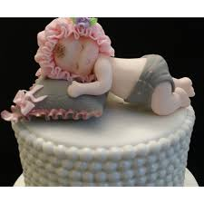 baby cake topper baby girl shower pink and grey baby shower baby cake topper