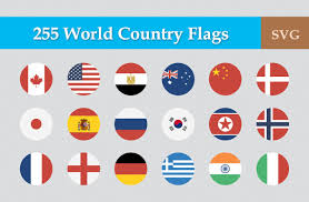 Thailand Round Flag 255 Flat Round World Flag Icons Icons Creative Market