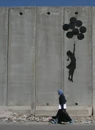 banksy ballon girl on gaza wall palestine pinterest banksy banksy ballon girl on gaza wall