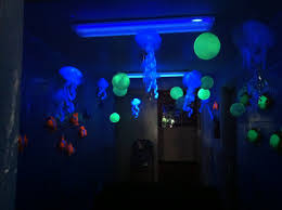 Bedroom Ideas With Black Lights Jellies In The Black Light Room Vbs Under The Sea Theme