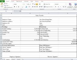 professional employee pay stub excel template excel tmp