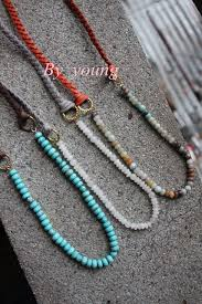 leather bead necklace images Boho necklace amazonite rondelles beads and mala round beads with jpg