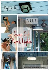 hang porch lights for ambiance and safety
