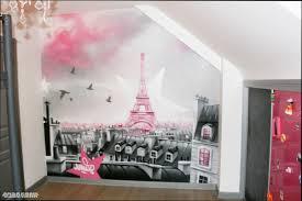 decoration theme paris deco chambre paris fille