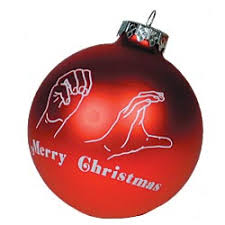 maxiaids merry sign language glass 3 in ornament