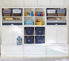 bedroom storage systems cameron creativity storage system with drawer bases pottery barn