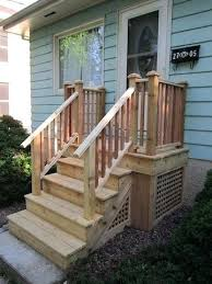 Back Porch Stairs Design Back Porch Steps Ideas Cedar Steps For Front Door Front Porch