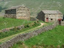 two barns house two barns near muker in the yorkshire dales stock photo picture