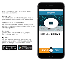 gift card offers benjamin app offers 20 uber gift cards