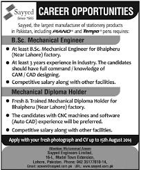 diploma holder mechanical engineer fresh mechanical diploma holder at sayyed in