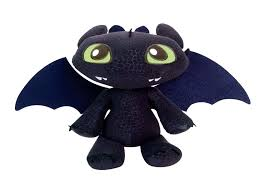toothless dragon squeeze growl plush train