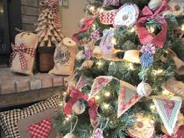 burlap homespun tree decorations rags n rhinestones