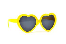 yellow heart sunglasses rainbow heart sunglasses summer