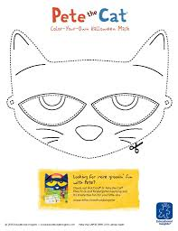 halloween mask printable free downloadable pete the cat and shelby mask templates for