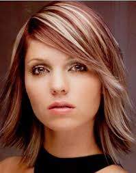medium haircut side bangs shoulder length haircut with side bangs